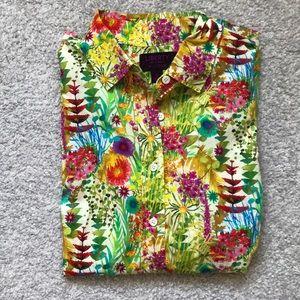 Jcrew Floral Art Print Shirt